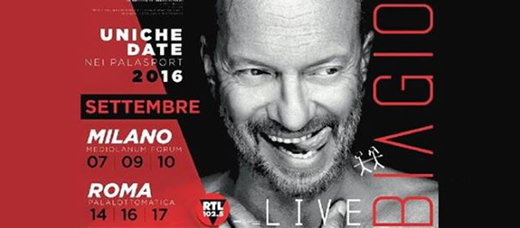 Biagio Antonacci Eventi Milano