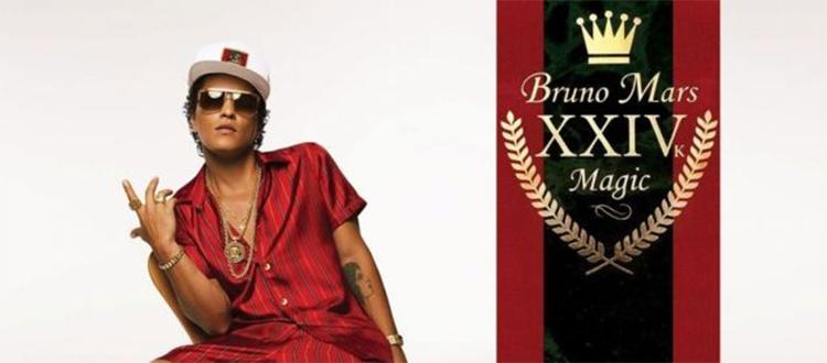 Concerto di Bruno Mars 15 giugno 2017